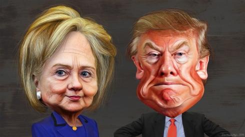 hillary_clinton_vs-_donald_trump_-_caricatures